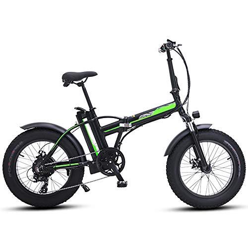 RYH 4,0 Zoll Fat Tire E-Bike, 26 Zoll E-Bike Mountainbike E-Bike Ebike Herren Damen 500W 48V Batterie 7-Gang Doppelscheibenbremse