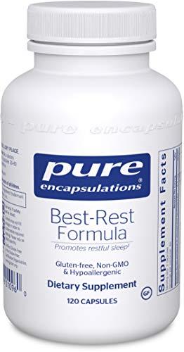 Pure Encapsulations - Best-Rest Formula - Hypoallergenic Supplement for Restful Sleep - 120 Capsules