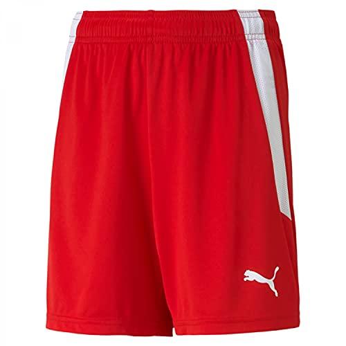 Puma 4063699149548 teamLIGA Shorts Jr Pantaloncini Bambino, 116, Puma Red/Puma White