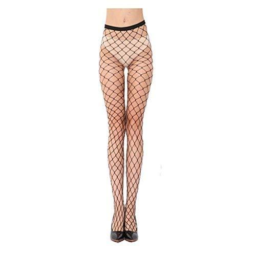 Cooll - Medias de malla para mujer, sexy, medias de malla cruzada, medias para mujer, talla libre