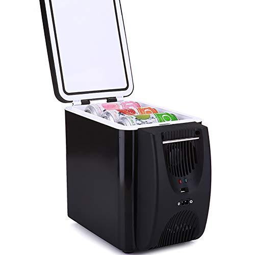 Refrigerador eléctrico de 12 V, refrigerador y calentador de coche termoeléctrico, 6 litros, refrigerador portátil de viaje, para camping, picnic, playa