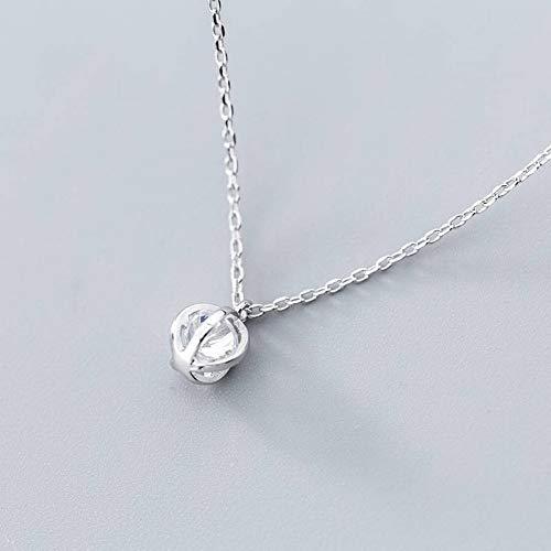 Thumby S925 Zilveren Ketting Hanger Vrouwelijke Japanse Stijl Mode Diamanten Lantaarn Hanger Temperament Eenvoudige sleutelhanger Vrouw, S925 zilveren set ketting, Zoals getoond