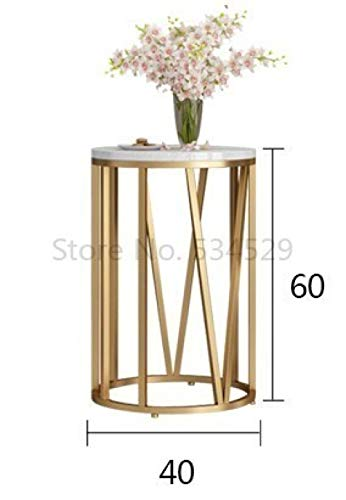 Nachtkastje LKU Salontafel moderne woonkamer ronde tafel bijzettafel salontafel meubels diameter 40xH60cm, 40X40X60cm
