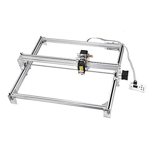 TOPQSC Kit de máquina de grabado láser CNC, impresora de escritorio de 50x40 cm, impresora de marcado de logotipo, máquina de corte de grabado de talla de madera USB de 12 V (5040 10000MW)
