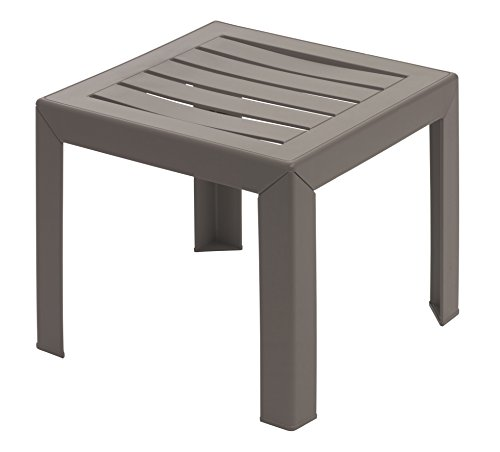 GROSFILLEX Miami Table, Taupe, 40 x 40 cm