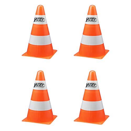 Best Sporting Pylonen orange-weiß, 23 cm hoch, im 4er Pack (4 Stück)