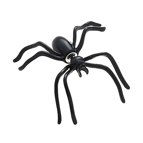 Holibanna Black Spider Earrings Halloween Stud Earrings Scary Spider Ear Cuff Body Piercing Jewelry Gifts 2pcs
