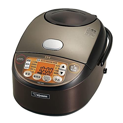 象印 炊飯器 5.5合 IH式 極め炊き 黒まる厚釜 保温30時間 ダークブラウン NW-VA10-TA