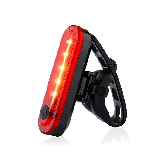 Woorea Luce per Bicicletta Luce Posteriore a LED Impermeabile Luce USB Ricaricabile per Mountain Bike Luce di Sicurezza per fanale Posteriore