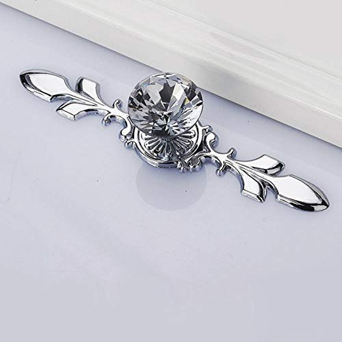 Tings Moderne Kristallen Handgrepen Deurknop Schoenendoos Kastgrepen Kast Keuken Garderobekast Handgrepen Hardware, 16.9 cm