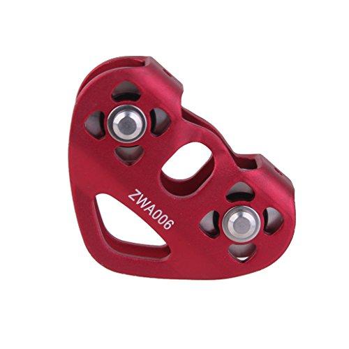 lahomia 24KN mechanische Seilrolle für Bergsteigen, Klettern, 13 mm Seil-Set – Rot