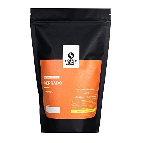 Coffee Circle | Cerrado-Kaffee & Espresso | 100% Brasilian Arabica | 350g ganze Bohne | Erinnert an Haselnuss und süße Früchte | fair & direkt gehandelt | frisch & mittelkräftig geröstet