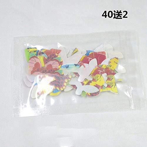 Aomerrt 42 stuks gemengde vlinders eetbaar Glutinous rijstpapier vlinder taart cupcake toppers bruiloft verjaardagsfeestje taartdecoratie