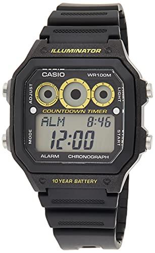 casio smartwatch Casio Orologio Digitale Quarzo Uomo con Cinturino in Resina AE-1300WH-1AVEF