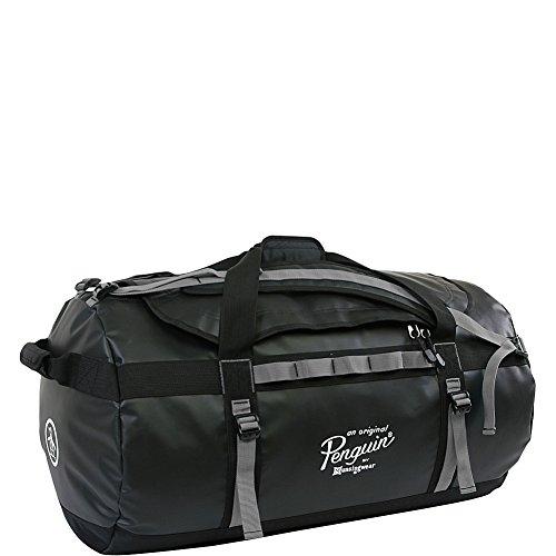 Original Penguin Unisex-Erwachsene Luggage Large Duffel Bag Seesack, schwarz/grau, Einheitsgröße