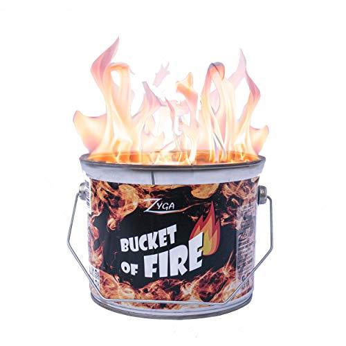 Toys4Boys Tragbarer Kamin Feuerstelle Wachs Tragbares Lagerfeuer Feuerkorb für Outdoor Camping Strand Hinterhof Garten