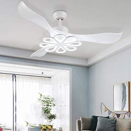 SHELLTB Luz Techo Ventilador, Silencioso Inalámbrico Control Lámpara Techo con Mando Distancia, Velocidad Viento Ajustable, 3 Colores De Atenuación Lámpara Ventilador, para Oficina Moderna Dormitorio
