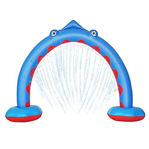 MNVOA Juguete Fuente De Arco De Tiburón, Aspersor De Tiburón Inflable De Agua Al Aire Libre Adecuado para El Jardín Trasero Jugando Juguetes Durable