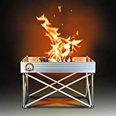 The Pop-Up Fire Pit is the first truly portable wood or charcoal burning fire pit. This lightweight, portable firepit makes campfires possible anywhere, anytime which makes it the perfect companion for all outdoor enthusiasts. The Pop-Up Fire Pits st...