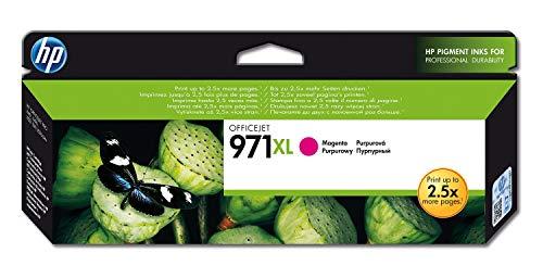 HP 971XL CN627AE Cartuccia Originale per Stampanti a Getto di Inchiostro, Compatibile con Officejet Pro X451dw, X476dw, X551dw e X576dw, Magenta