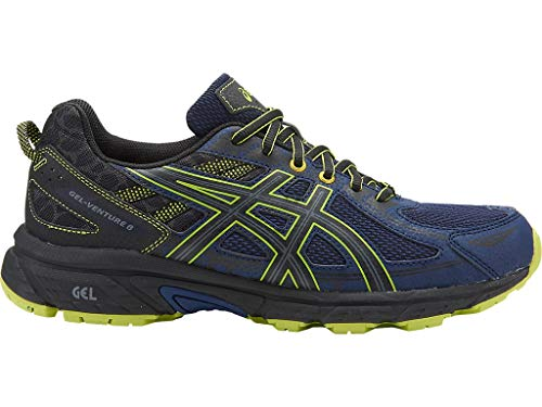 ASICS Mens Gel-Venture 6 Running Shoe, Indigo Blue/Black/Energy Green, 10.5 Medium US