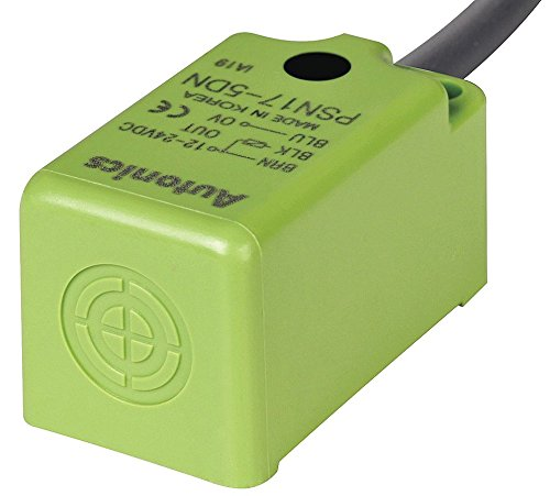 PSN17-8DP-F, Sensor, Inductive Prox, 17mm Square, 8mm End Detection, DC, PNP, NO, 3 Wire, Differential Frequency, 10-30 VDC