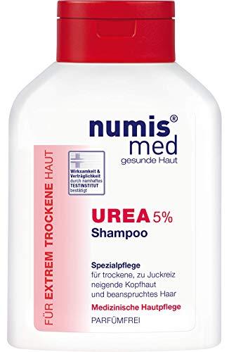 numis med Shampoo mit 5% Urea - Haarpflege parfümfrei & vegan - Haarshampoo für sensible, zu Neurodermitis neigende & trockene Haut - Haar Shampoo (1x 200 ml)