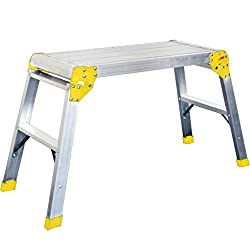 Perfect for all odd jobs around the home or work place Easy to use, easy to store Broad base for extra stability Large working platform area Sturdy and well constructed Safe Working Height (m) : 2.25m, Max. Load (kg) : 150kilogram