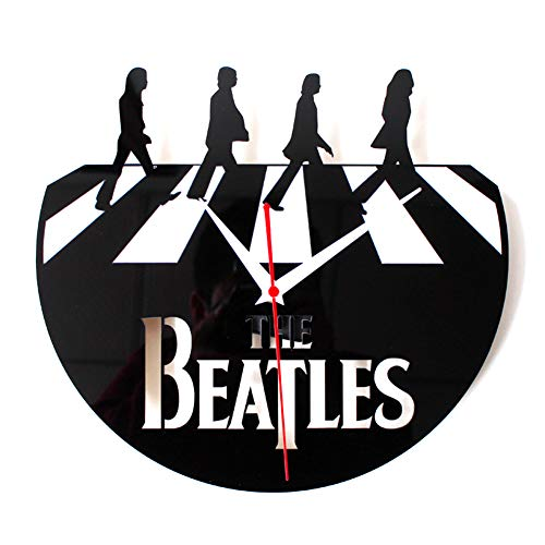GSYYSZD Reloj de Pared de Vinilo expediente, Retro CD Beatles Abbey Road...