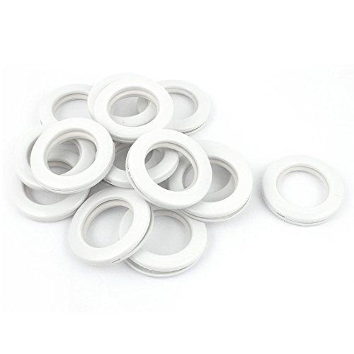 Sourcing Kaart a15122100ux1560 Badkamer Douche Gordijn Ring Haak Glijdende Hangende Hangers Wit 15 Stks
