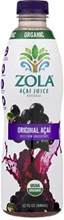 Zola Brazilian Superfruits Acai Berry Original Juice, 32 Ounce Bottle