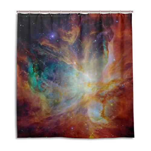 CPYang Duschvorhänge Regenbogen Galaxie Stern Nebula Wasserdicht Schimmelresistent Badvorhang Badezimmer Home Decor 168 x 182 cm mit 12 Haken