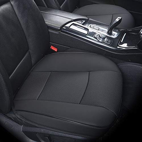 Gray 3 Pack HCMAX Car Interior Seat Cushion Cover Edge Wrapping Pad Mat for Auto Car Supplies PU Leather Bamboo Charcoal Without Backrest