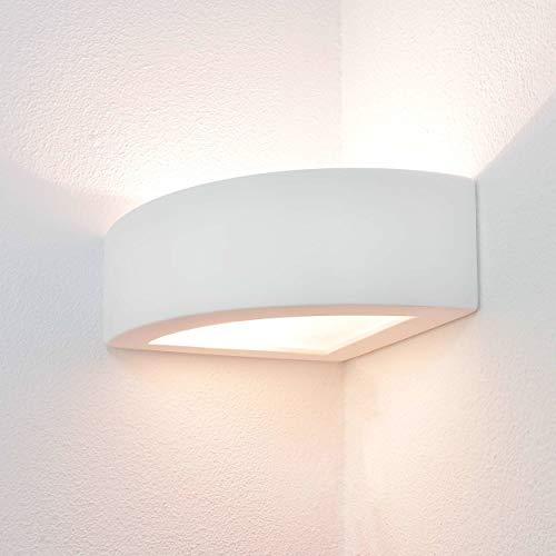Esquina lámpara de luz de yeso blanco E27 APM