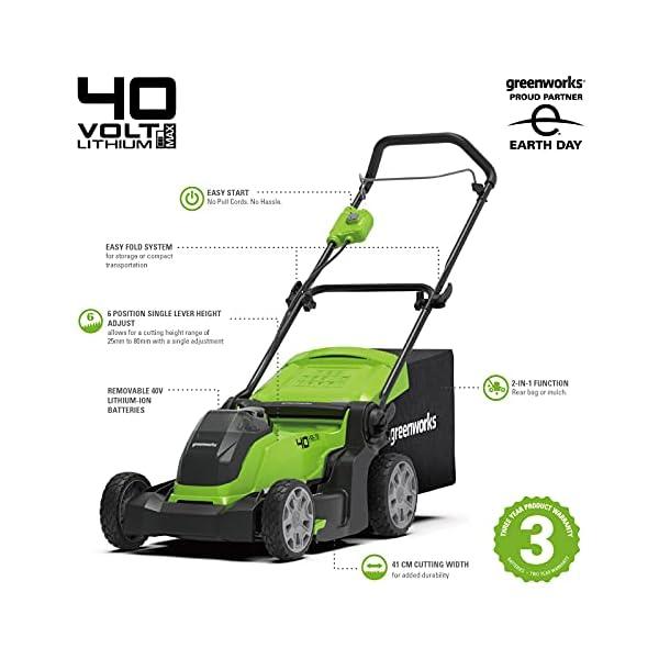 Greenworks Li-Ion 40V Battery Powered Lawnmower
