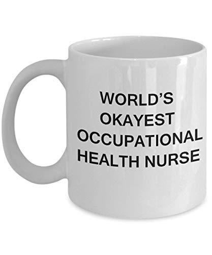 Werelden Okayest Beroepsgezondheid Verpleegkundige Beroepsgezondheid Verpleegkundige Geschenk Koffie Mokken Porselein Wit Grappige Koffie Mok Koffie Cup GIF