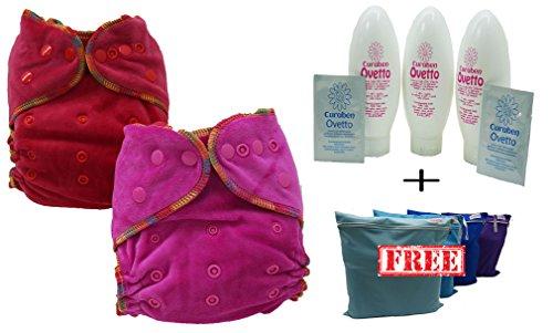 T.I.D Waschbare Windeln, 5 Stück, 5 Einsätze + Babyschale Cuaben + gratis WET Bag