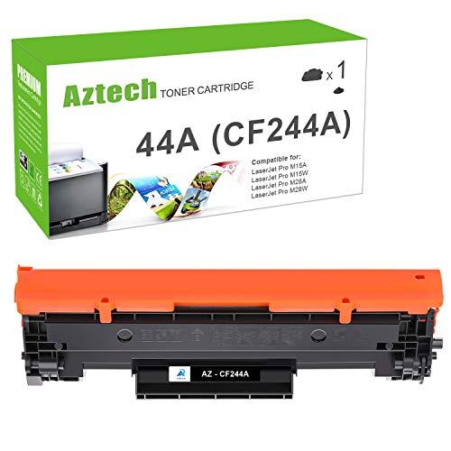 Aztech Kompatibel für HP CF244A HP 44A Toner Cartridge Replacement für HP Laserjet Pro M15w Toner HP Laserjet Pro MFP M28w HP Laserjet Pro M15a M16a M16w M28a M28w HP Laserjet MFP M28a (Schwarz)