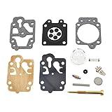 Yunluner Carburateur Membrane Coupe-bordure Joints Kit de réparation pour Carburateur GX135 Primer Bulb Cap Coupe-herbe Kit de joints pour débroussailleuse
