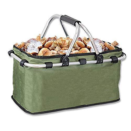 Tiendas LGP Albainox Cesta Multiusos Plegable Especial para recolección de Setas y Frutas