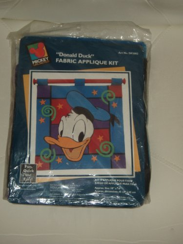 Disney Donald Duck Fabric Applique Kit by Donald Duck Applique Kit