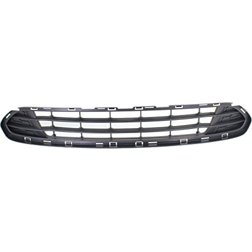 Evan-Fischer Bumper Grille compatible with ford Fusion 10-12 Front Textured Gray...