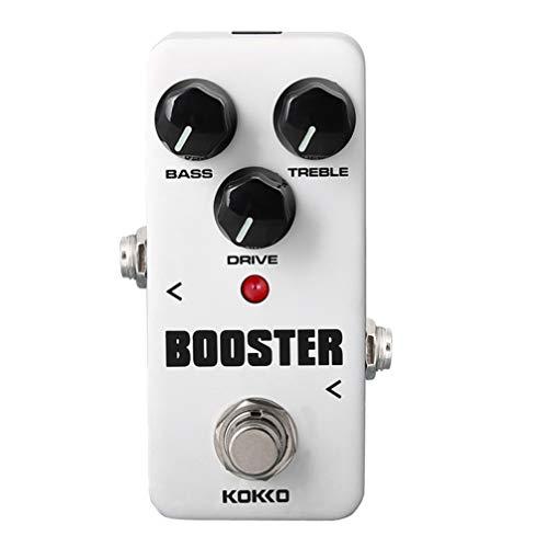 Healifty Amplificador de efectos de guitarra eléctrica 2 bandas eq pedal de...