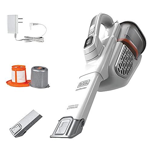 BLACK+DECKER Dustbuster Handheld Vacuum, Cordless, AdvancedClean+, White (HHVK320J10)