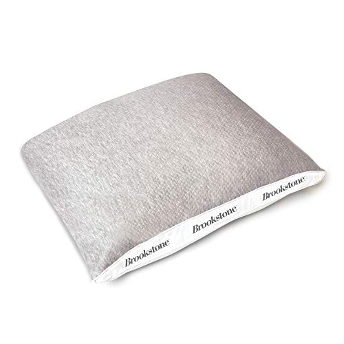Brookstone Charcoal Infused Bed Pillow - Pressure-Relieving Memory Foam Shell & Better Than Down Hypoallergenic Soft Fill Core - Soft & Supportive - Removable & Washable Cover - Standard/Queen