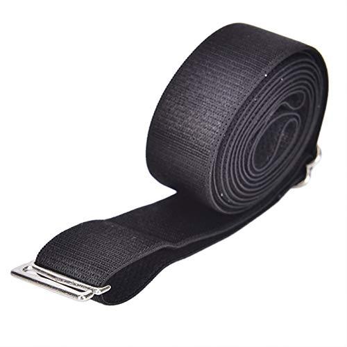 TLBBJ Correa Hombres Ajustables Camisa de la Camisa de la Camisa Anti-Arrugas Tenedor de la Camisa Cerca de la Camisa Stay Mejor Me lonct Cinturón Anti-Arrugas Anti-Arrugas Casual (Color : Black)