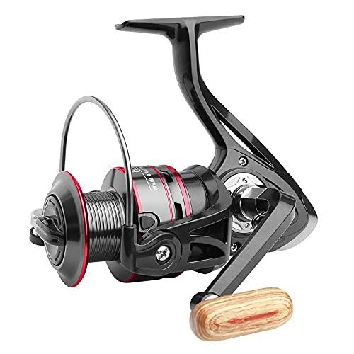 Carretes de pesca DealMux 12 BB Wheel Spinning Reel 5.2: 1 carrete de carpa de la serie 500-7000, aparejos de pesca para carretes de pesca (color: negro, tamaño: 2000)