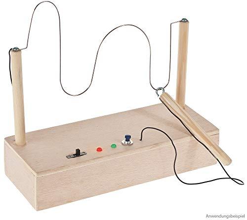 matches21 Heißer Draht Geschicklichkeitsspiel mit Box Bausatz für Kinder - Holz & Elektronik Bastelset - ab 12 Jahren