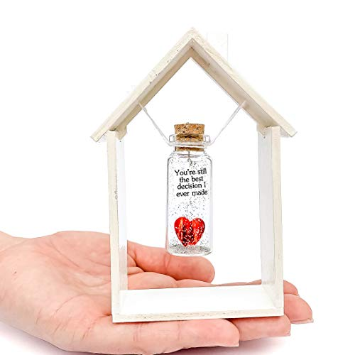 Heart and Message in a Bottle Figurine