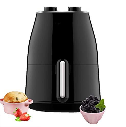 Huaishu Oven voor levensmiddelen zonder frituren, gezonder en gezonder in de lucht – temperatuurregelaar verstelbaar, 1,5 l, 1230 W, zwart